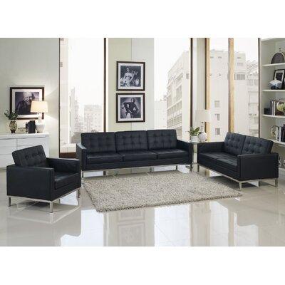 Loft 4 Piece Leather Sofa Set by Modway