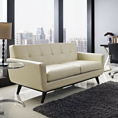 Modway WQ17337 Employ Leather Loveseat