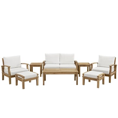 Berth 8 Piece Outdoor Patio Seating Group by Modway