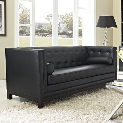 Stately Leather Sofa by Modway