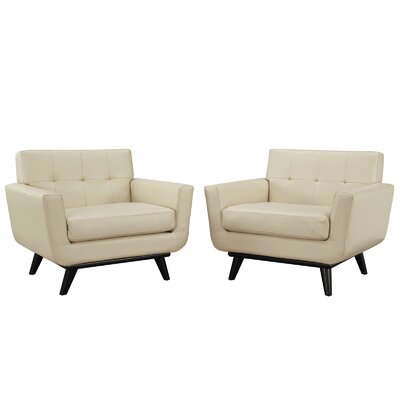 Engage Leather Sofa Set by Modway