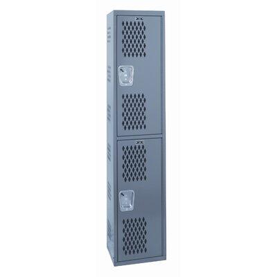 Hallowell Welded 2 Tier 1 Wide Ventilated Locker