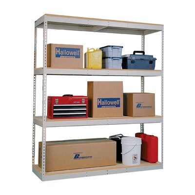 "Hallowell Rivetwell Double Rivet Boltless 84"" H 4 Shelf Shelving Unit Starter"