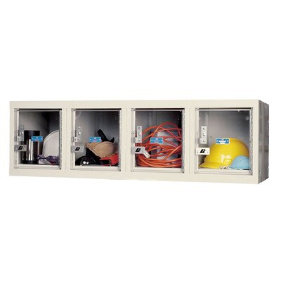 Hallowell Safety-View 1 Tier 4 Wide Plus Wall Mount Locker