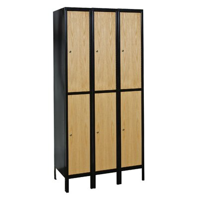 Hallowell Hybrid 2 Tier 3 Wide Contemporary Locker