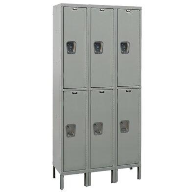 Hallowell Maintenance-Free 2 Tier 3 Wide Quiet Box Locker