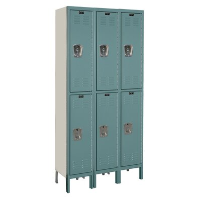 Hallowell Premium 2 Tier 3 Wide Knock-Down Locker
