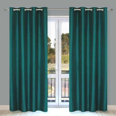 Silkana Faux Silk Grommet Curtain Panel (Set of 2) Product Photo