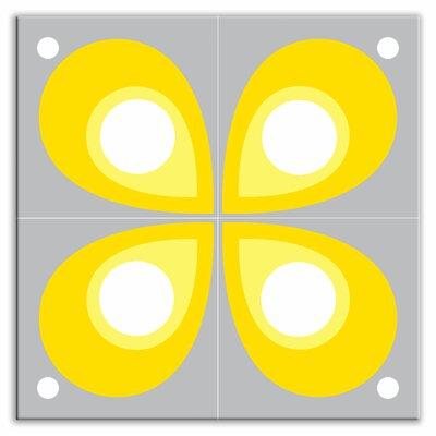 "Oscar & Izzy Earth Quads 8-1/2"" x 8-1/2"" Glossy Decorative Tile Quad in Mod Flod Gray"