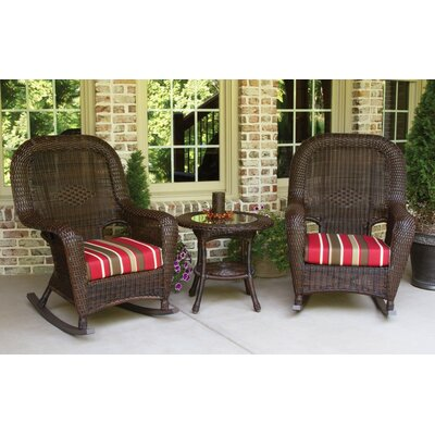 Lexington 3 Piece Rocker Seating Group with Cushions by Tortuga Outdoor