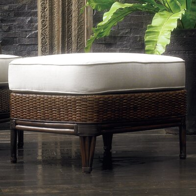 Outdoor Palm Beach Ottoman with Cushion by Padmas Plantation