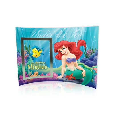 Trend Setters Little Mermaid (Under the Sea) Curved Glass Print with Photo Frame