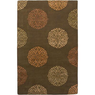 AMER Rugs Mercer Design Brown, Hand-Tufted Rug