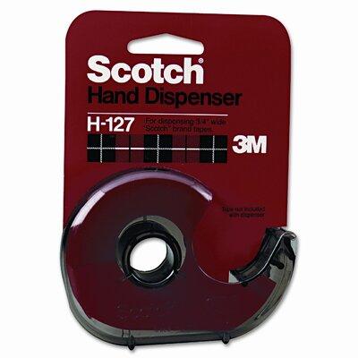 """3M H127 Refillable Handheld Tape Dispenser, 1"""" core, Plastic/Metal, Smoke"""