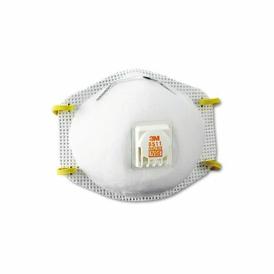 3M Particulate Respirator with Cool Flow Exhalation Valve, 10 Masks/Box