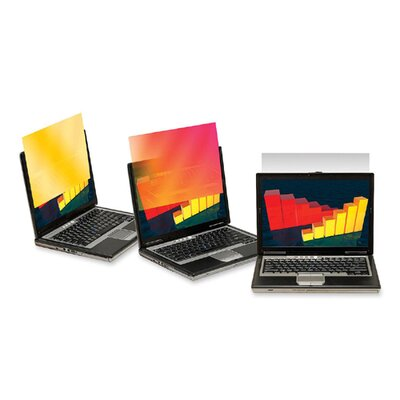 3M Frameless Gold Notebook Privacy Filter for 15.6 Widescreen Notebook Monitor