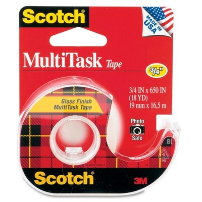 "3M MultiTask Tape, 1"" Core, 3/4""x650"", Transparent"