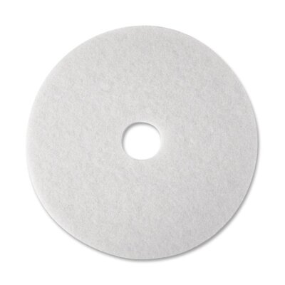 3M Super Polish Floor Pad, White, 5 Pads/Carton