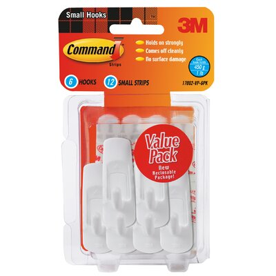 3M Small Command Hook Value Pack (6 Count)