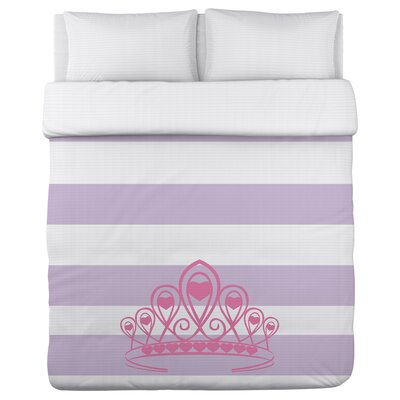 Crown Stripe Lightweight Duvet Cover by One Bella Casa