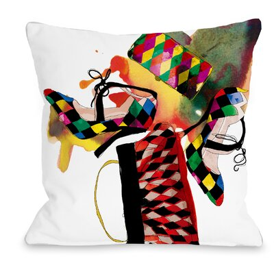 Harlequin Throw Pillow by One Bella Casa