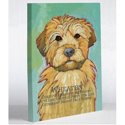 One Bella Casa Doggy Decor Wheaten 1 Graphic Art on Wrapped Canvas