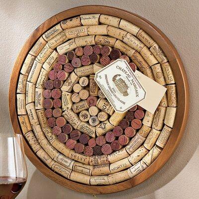 Wine Enthusiast Round Wine Cork Board Kit Bulletin Board