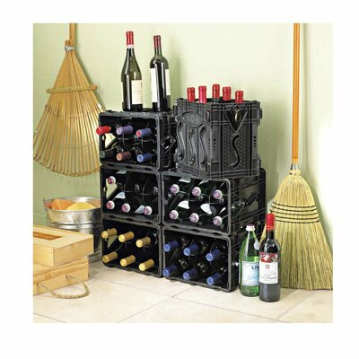 Storvino Nero 6 Bottle Wine Storage Container by Wine Enthusiast Companies