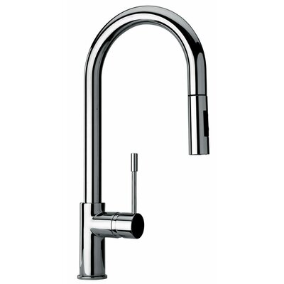 J25 Kitchen Series Single Hole Kitchen Faucet with Goose Neck Spout Product Photo