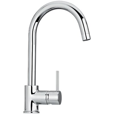 J25 Kitchen Series Single Hole Kitchen Faucet with Goose Neck Spout by Jewel Faucets