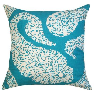 Divine Designs Overscale Paisley Cotton Throw Pillow