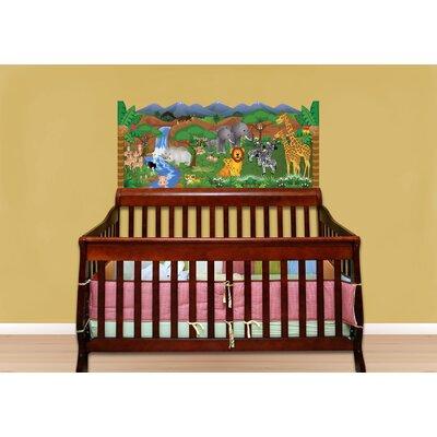 Jungle Baby Crib Wall Mural by Mona Melisa Designs