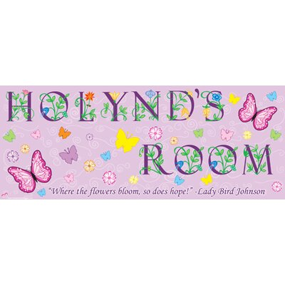 Mona Melisa Designs Butterfly Girl Name Wall Decal