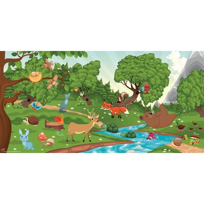 Mona Melisa Designs Forest Girl Hanging Wall Mural