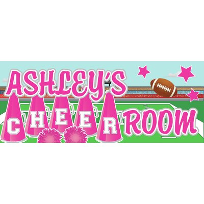 Mona Melisa Designs Cheerleader Name Wall Decal