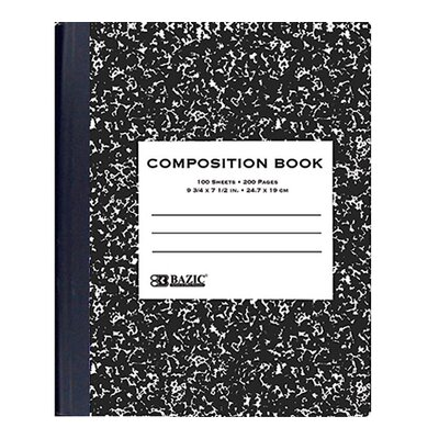 Bazic Black Marble Composition Book