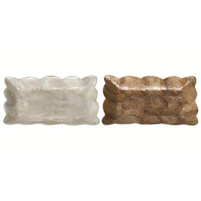 Dekorasyon Gifts & Decor Capiz Mini Rectangular Tray with Scalloped Edge