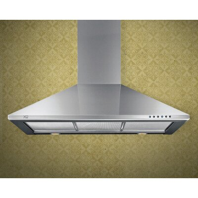 "42"" 600 CFM Wall Mount Range Hood in Stainless Steel Product Photo"