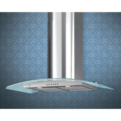 "36"" 600 CFM Island Range Hood in Stainless Steel Product Photo"