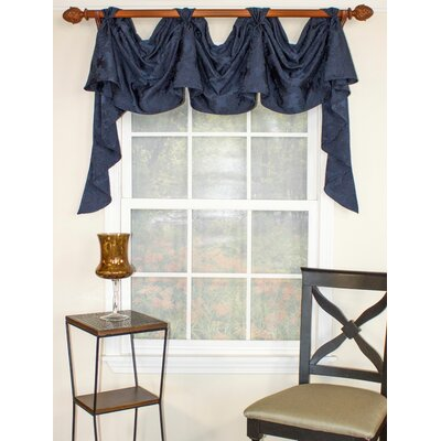 Jaquard Navy Victory Swag Curtain Valance Product Photo