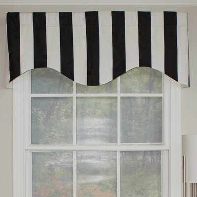 "Cabana Stripe Cornice 50"" Curtain Valance Product Photo"