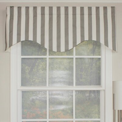 "Awning Stripe Cornice 50"" Curtain Valance Product Photo"