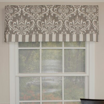 "Royal Damask Banded 50"" Curtain Valance Product Photo"