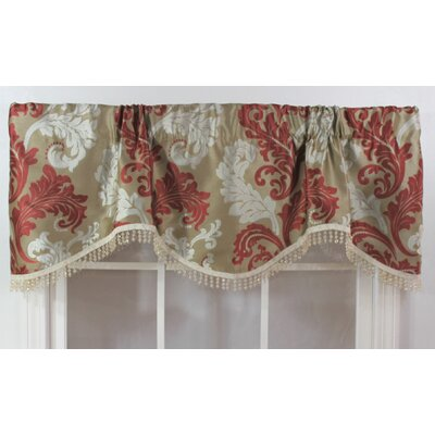 "Ella Rod Pocket Scalloped 50"" Curtain Valance Product Photo"