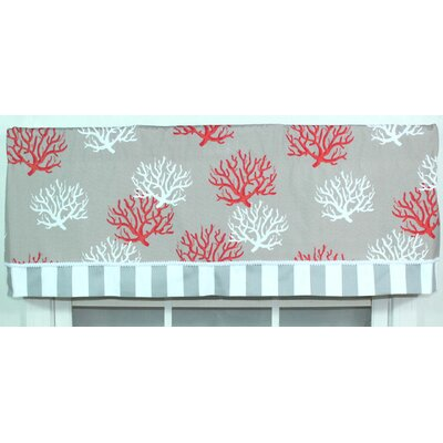 "RLF Home Sea Coral 50"" Window Curtain Valance"