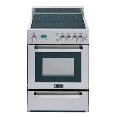 2 Cu. Ft Electric Convection Range in Stainless Steel Product Photo
