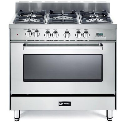 4 Cu. Ft Dual Fuel Convection Range in Stainless Steel Product Photo