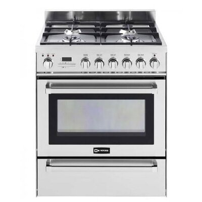 3 Cu. Ft. Dual Fuel Convection Range in Stainless Steel by Verona