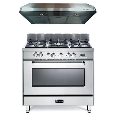 4 Cu. Ft. Dual Fuel Convection Range in Stainless Steel Product Photo