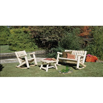 Rustic Natural Cedar Furniture Log Cedar 3 Piece Rocker Seating Group